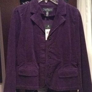 Ralph Lauren purple corduroy jacket, stretchy, 10